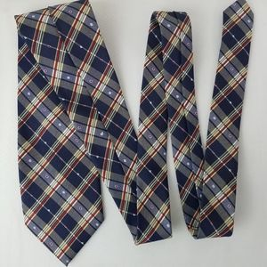 Hugo Boss Italian Silk Plaid Multicolored Necktie